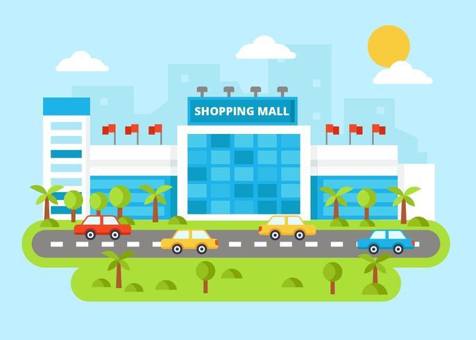 Modern Mall Shopping Center Vector