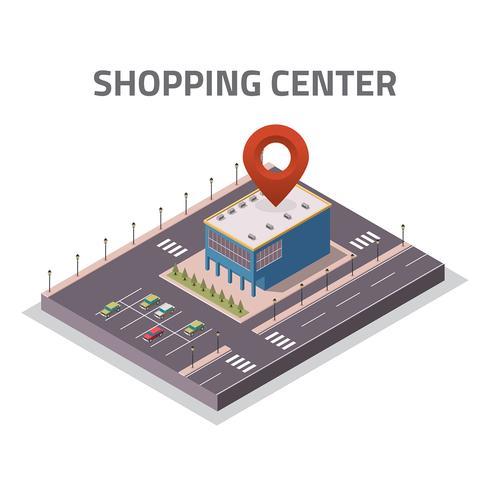 vetor de loja isométrica do centro comercial