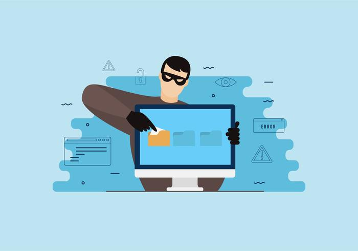 Flache Phishing-Illustration