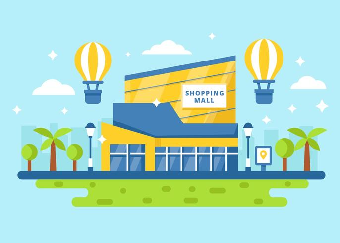 Free Shopping Mall City Vector