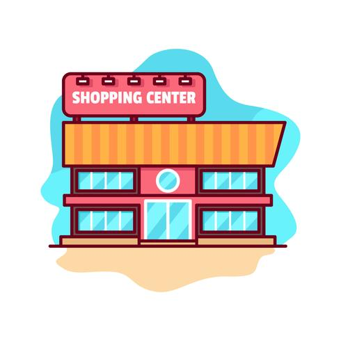 Free Vector Shopping Center Building
