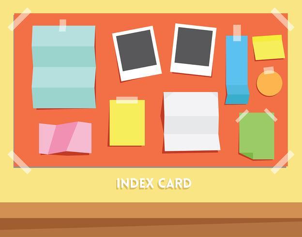 Conjunto de Vector de tarjeta de índice