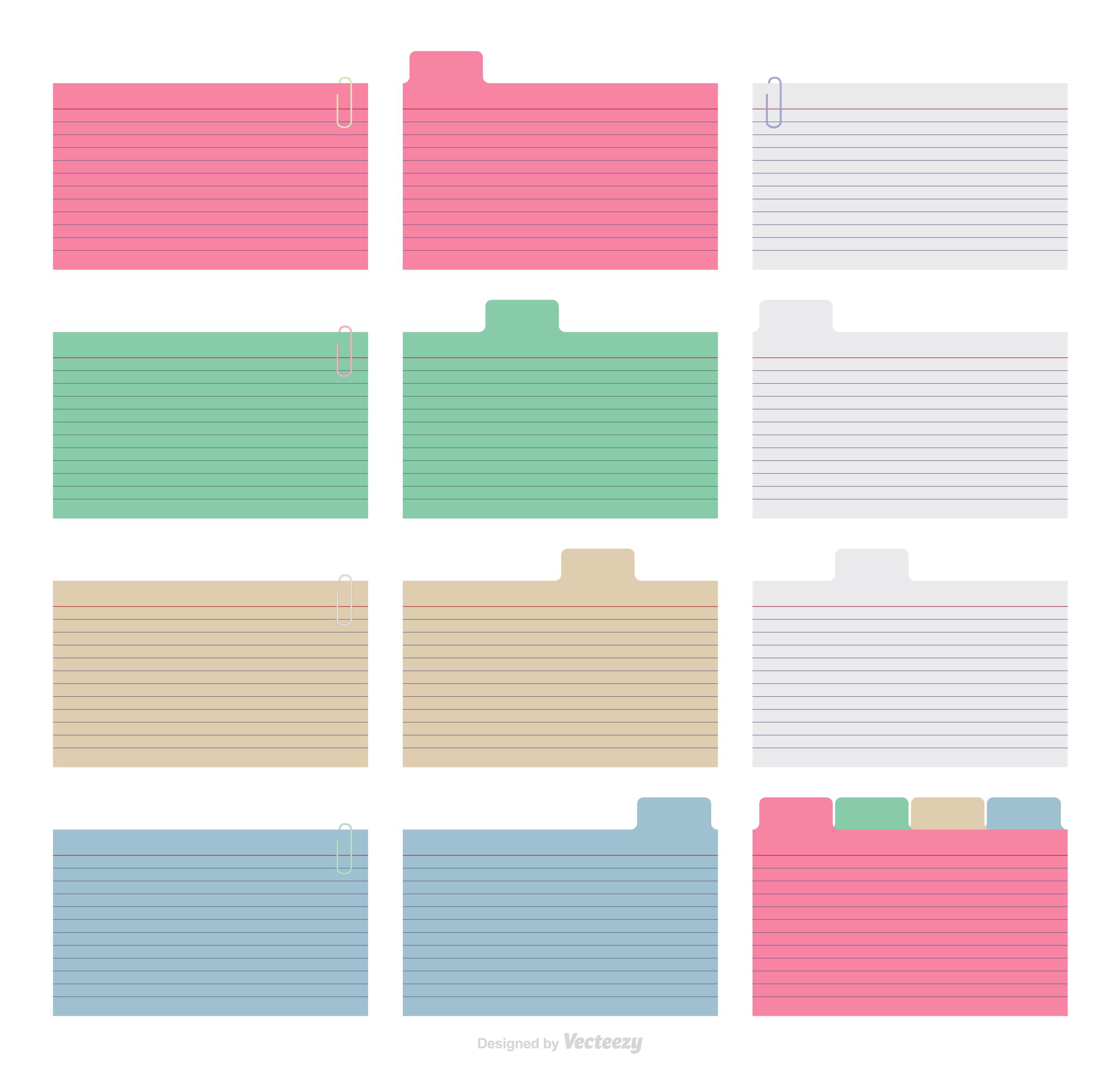 Plantillas de Vector de índice de papel colorido - Descargue ...