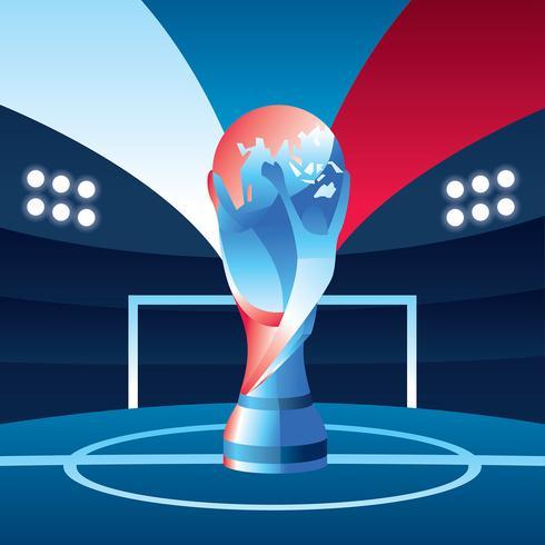 VM Fotboll Rusia Gratis Vektor