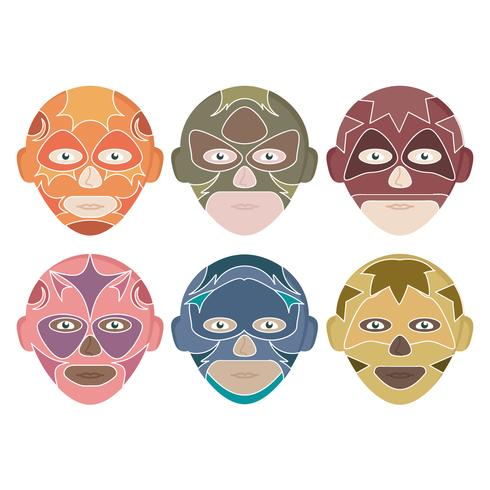 Vector Mexican Wrestlers Collection