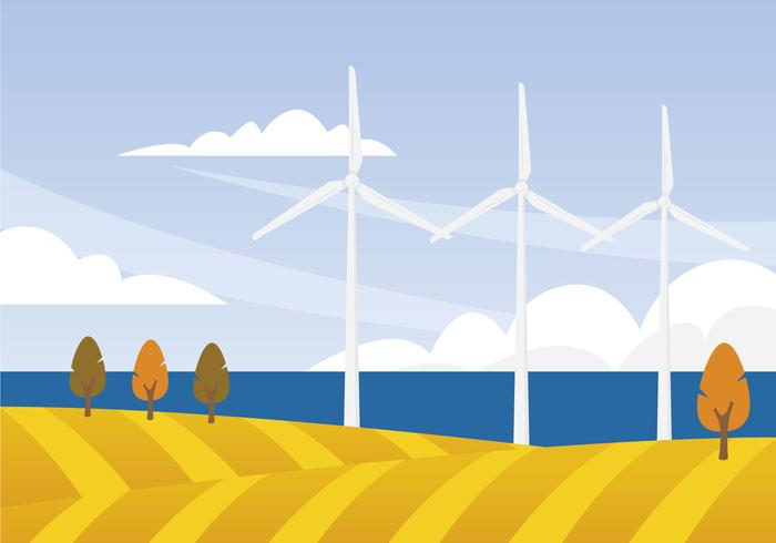 Windturbine Illustratie