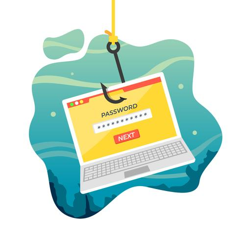 Gratis vektor phishing illustration