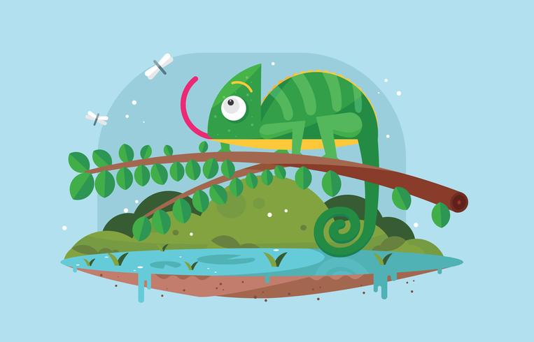 Free Chameleon Vector