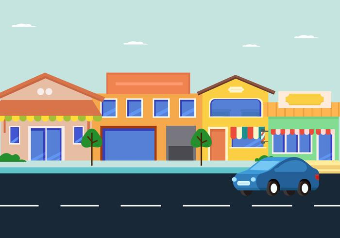 Shopping Centre Way Vector