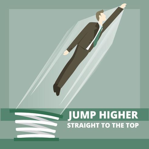 Vector Man Jumping on Sringboard