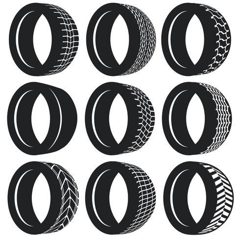 Vector Flat Pneumatic Tire Set