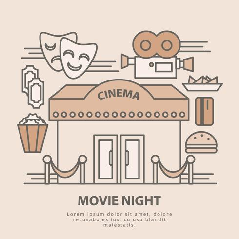 Vector Movie Night Illustration