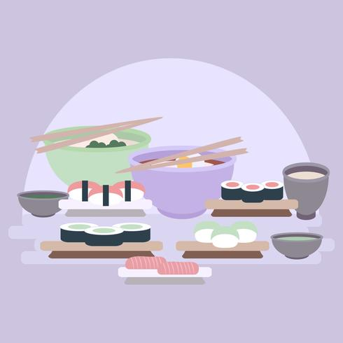 Vector Sushi Assortment