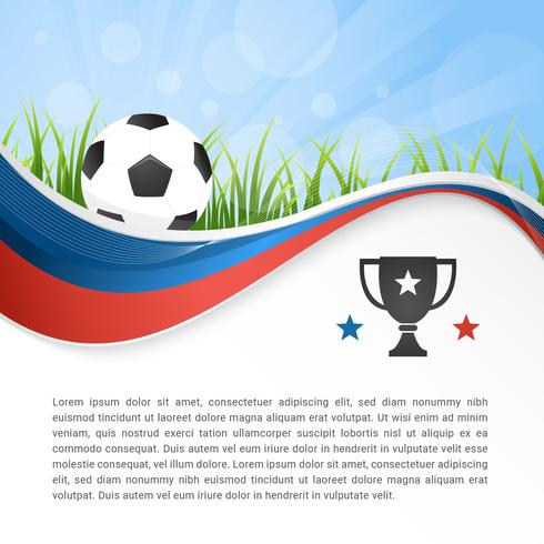 World Soccer Wavy Abstract Vector Background