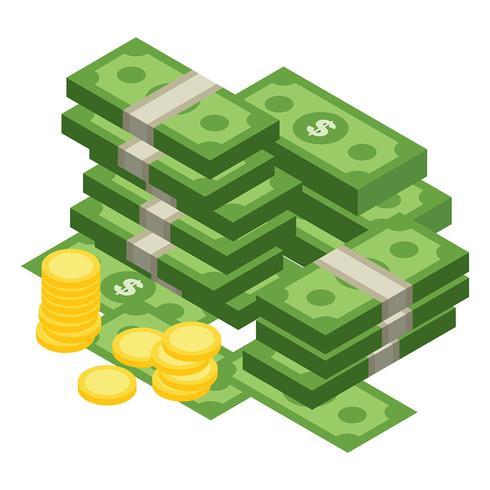 Beispiel Geld-Vektor-Illustration