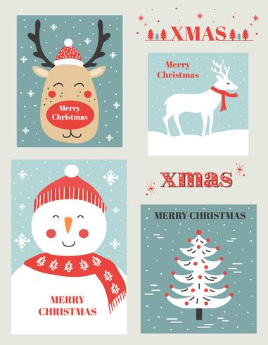 Christmas Cards Vector Set