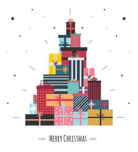 Kerst geschenkdozen vector