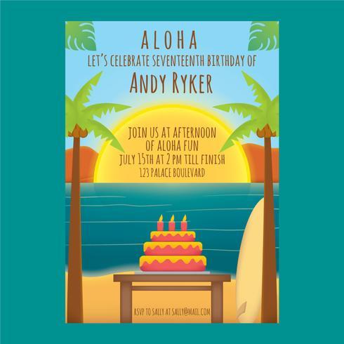 Polynesian födelsedag vektor