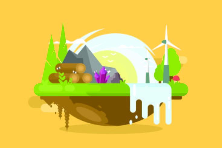 Natuurlijke hulpbronnen illustratie