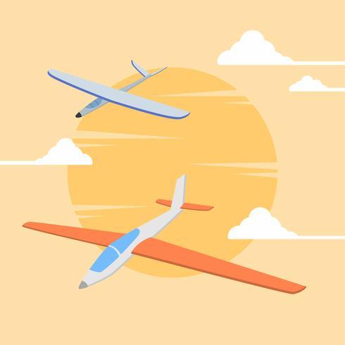 platte zweefvliegtuig vector