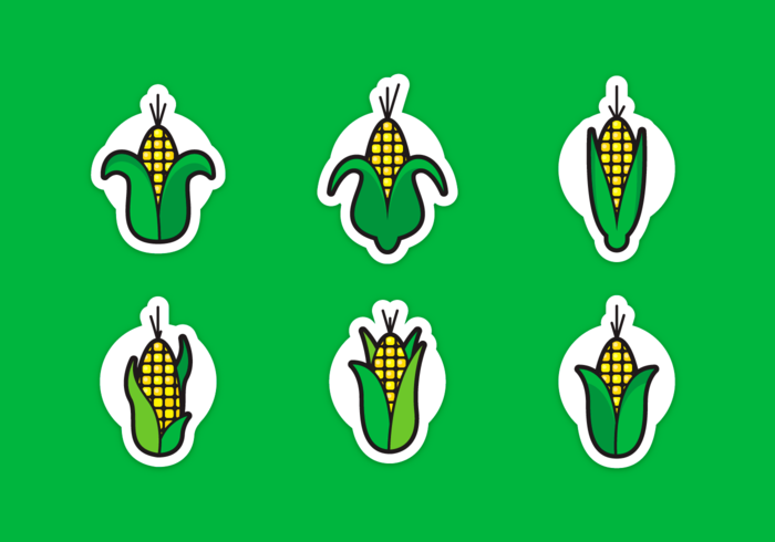 Corn Stalks Gratis Vector Pack