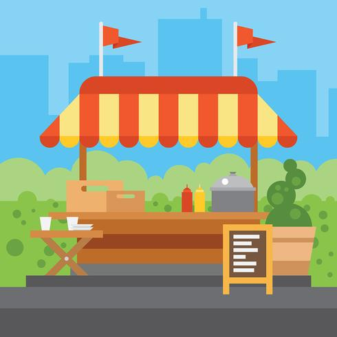 Concession Stand Vector Illustration