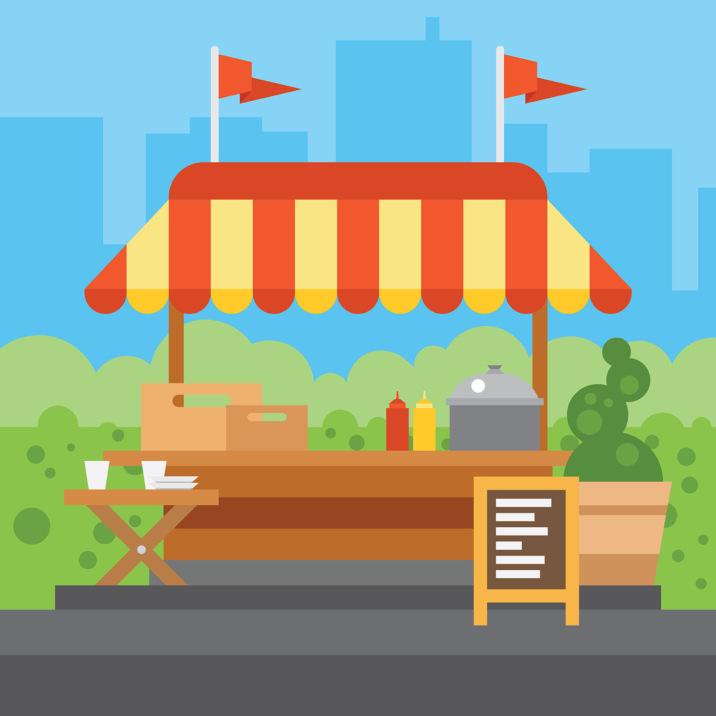 Concession Stand Vector Illustration - Download Free ...