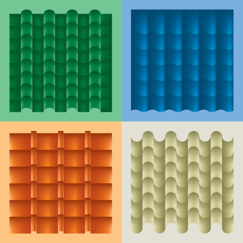 Roof Tile Material Vector
