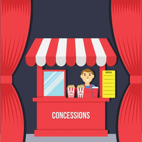 Concession Illustration Vector