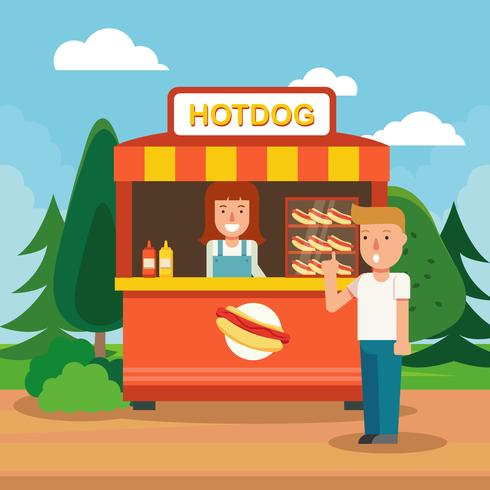 Concession Stall Illustration Vector