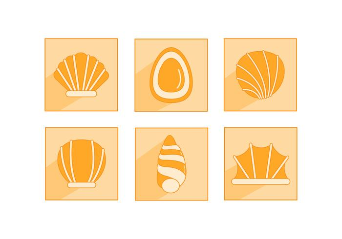 Platte zee Sint-jakobsschelpen pictogram