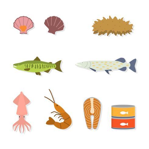 platta skaldjur vektorer