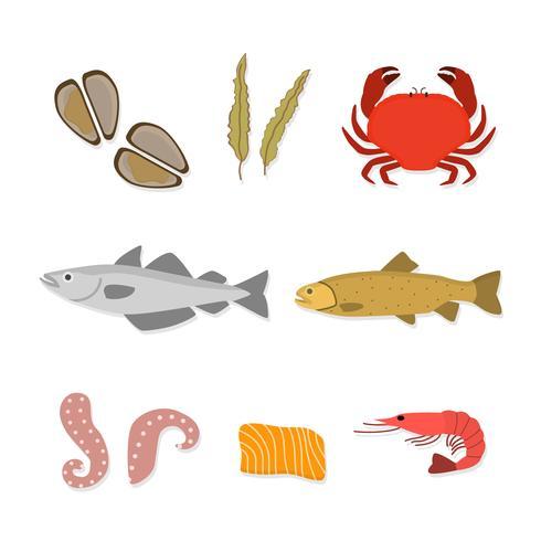 Vlakke zeevruchten vectoren
