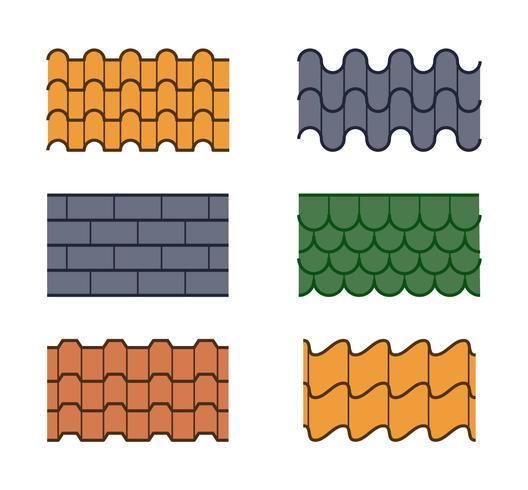 Free Unique Roof Tile Vectors