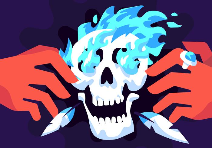 Vecteur de crâne de chaman