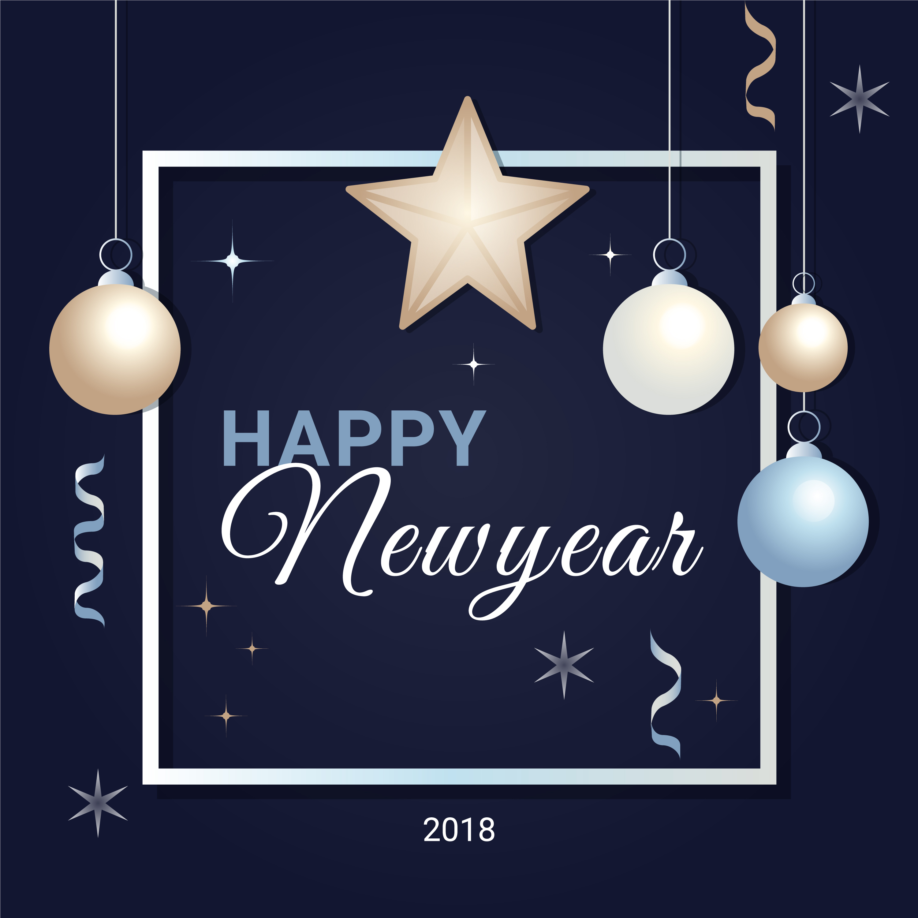 free flat design vector new year greeting card 173425