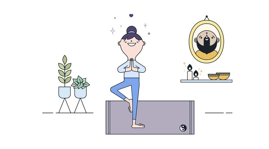 Free Yoga Practice Vector