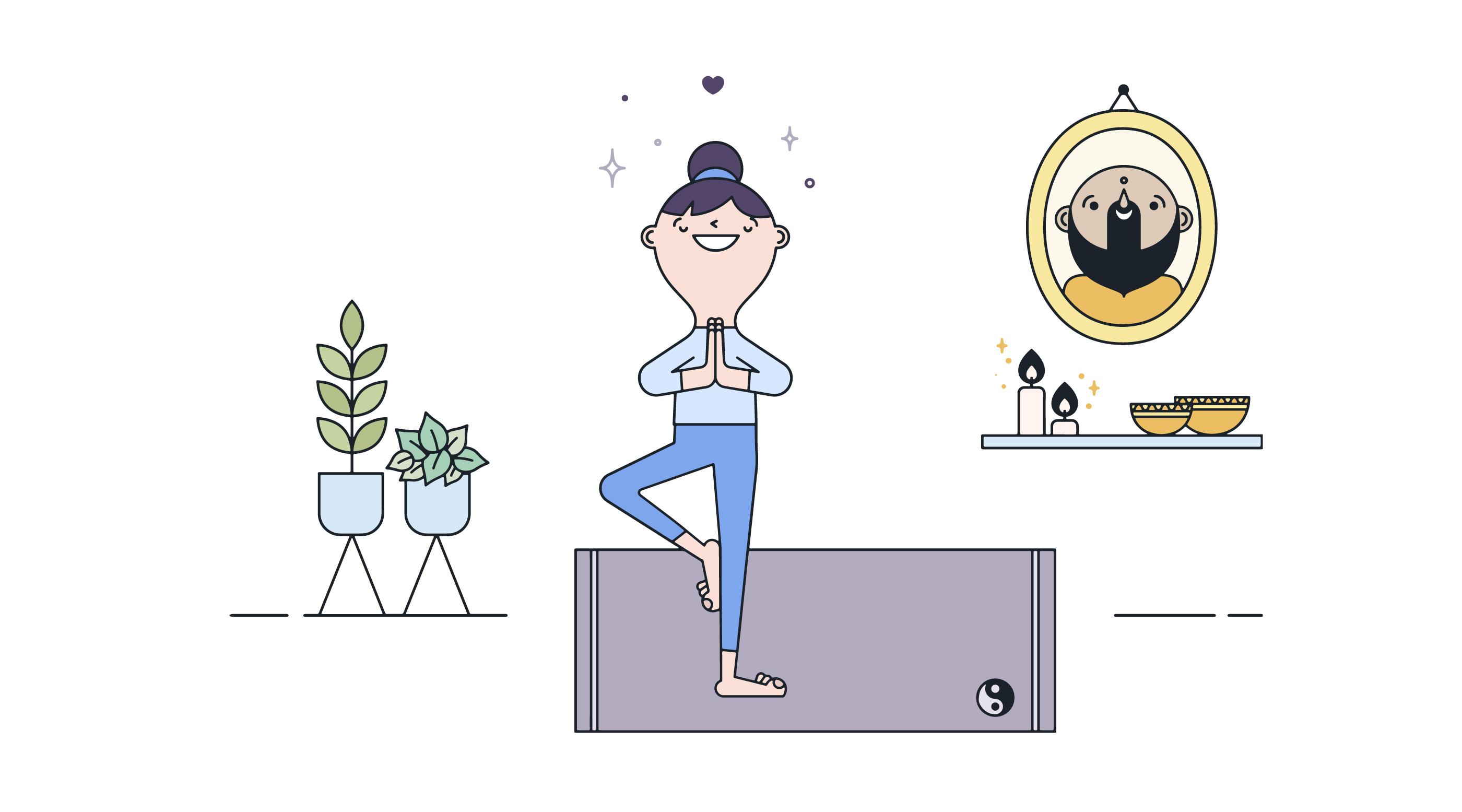 Kostenlose Yoga-Praxis Vektor - Kostenlose Vektor-Kunst, Archiv ...