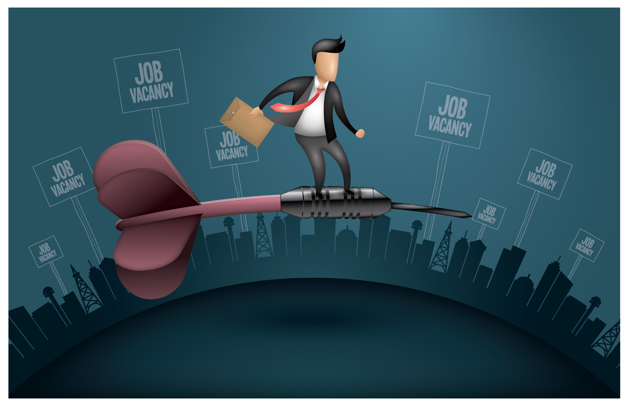 Flying Job Seeker Vector Download Free Vectors Clipart Graphics Vector Art