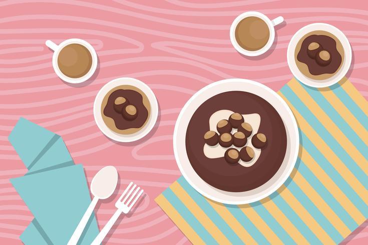 Kostenlose Rosskastanien-Kuchen-Illustration