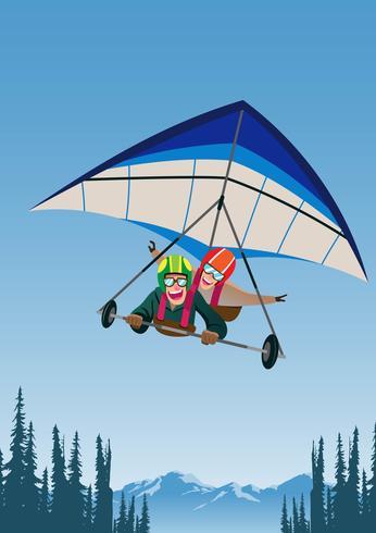 Hang Glider achter elkaar