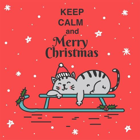 Håll lugn och god julvektor