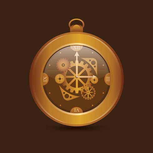 tappning klocka redskap delar illustration