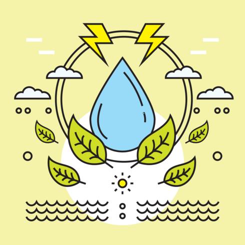 Vettore di cura dell'acqua