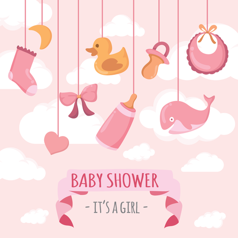 Babyshower Vector Illustration Download Free Vector Art Stock