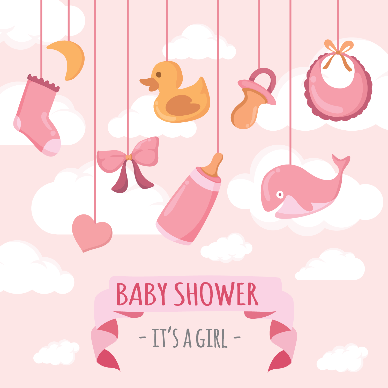 Babyshower Vector Illustration Download Free Vectors