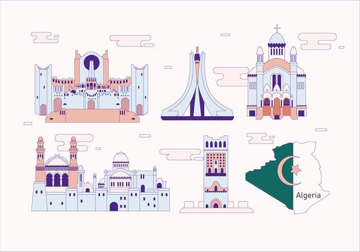 Argélia Landmark Vector