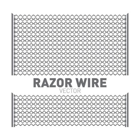 Razor Wire Illustration