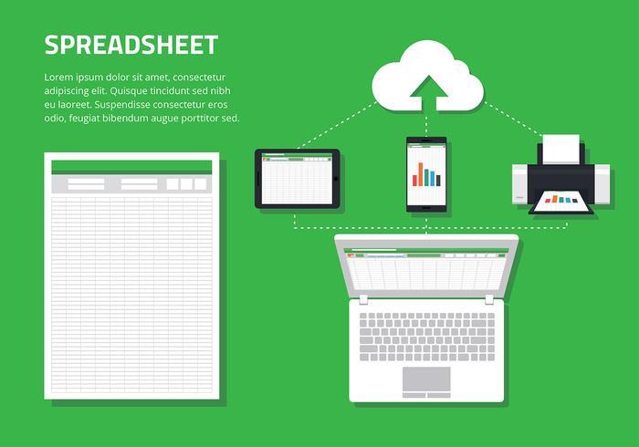 spreadsheet vector