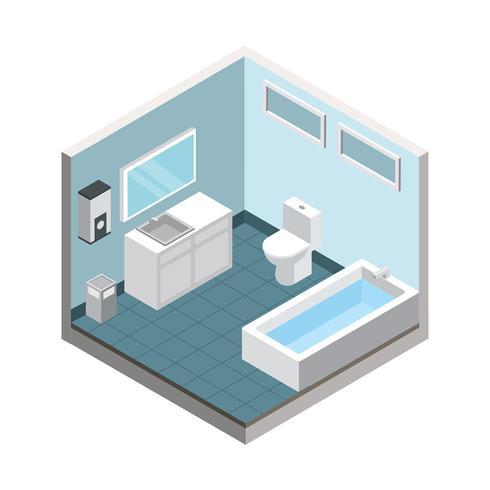 Badkamer isometrische gratis vector
